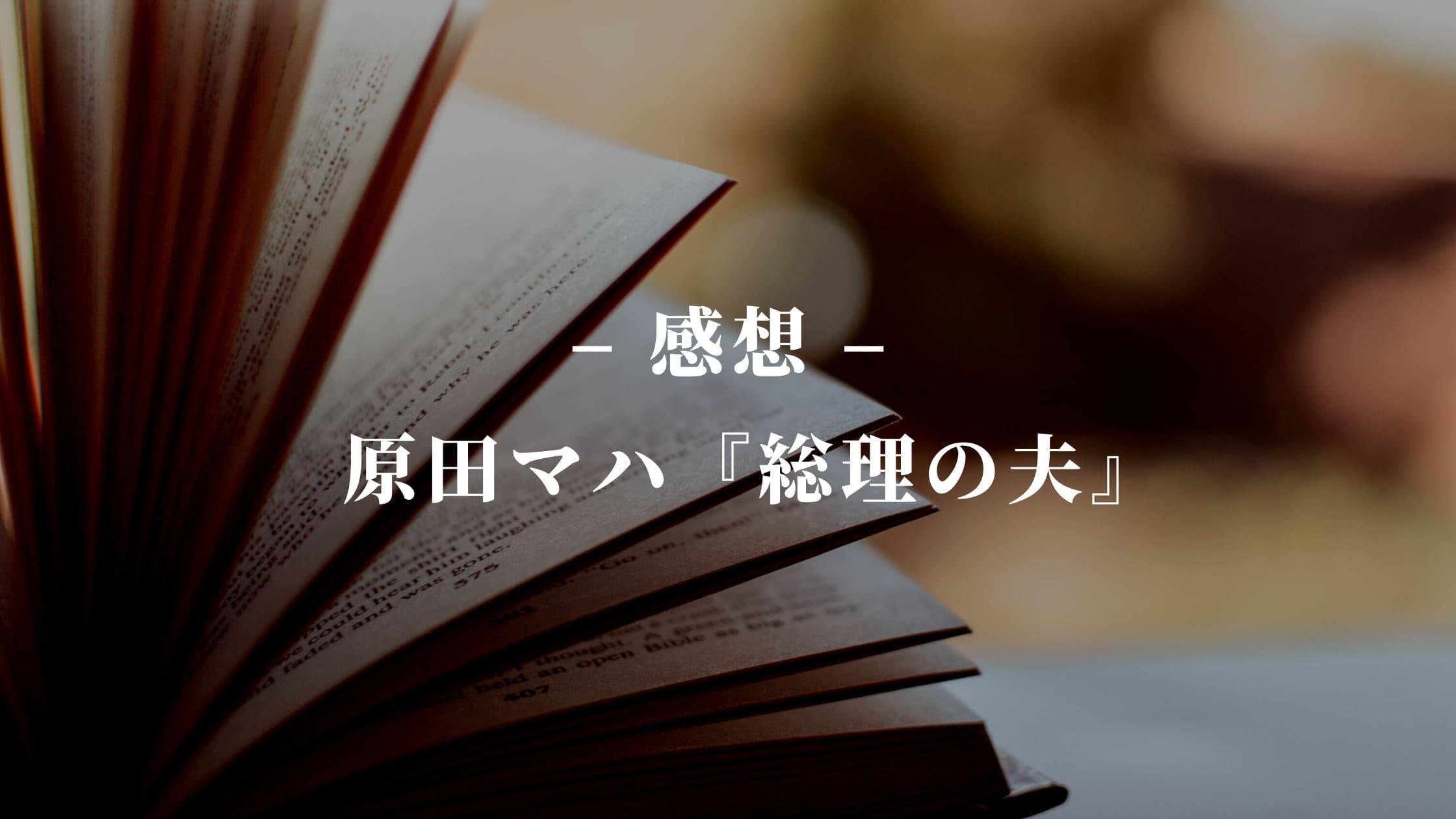 原田マハの小説『総理の夫』の感想
